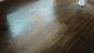床のニス塗装 施工前
