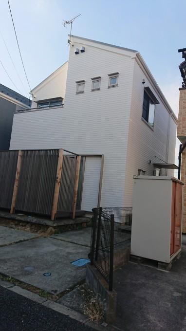 外壁多彩模様吹付け工事 綾瀬市 施工後