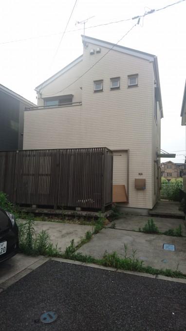 外壁多彩模様吹付け工事 綾瀬市 施工前